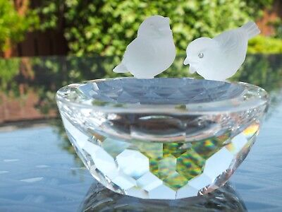 Crystal Swarovski Bird Bath Ornament - Great Condition, Original Packaging
