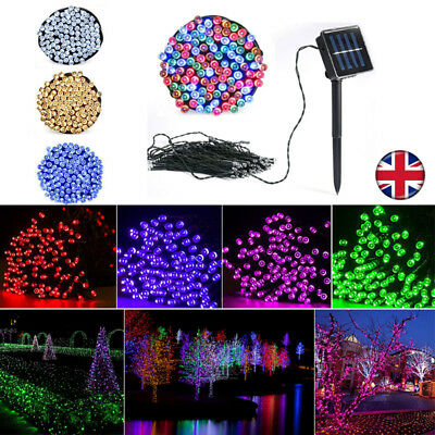 100-500 LED Solar Power Fairy Lights String Garden Outdoor Party Wedding Xmas UK