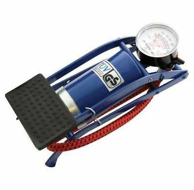 Single Barrel Cylinder Air Inflator Foot Pump Car Van Bicycle Bike Tyre