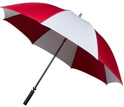 Lightweight Golf Umbrella Wind Proof & Double Ribs in Burgundy Red & White