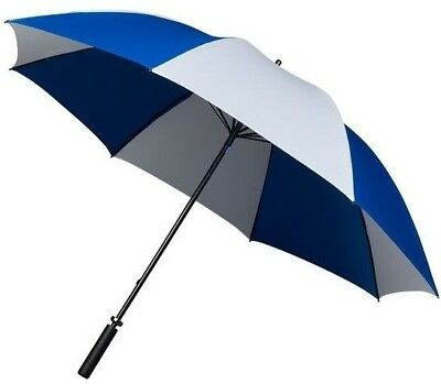 Golf Umbrella Two Colour Blue & White - Double Ribs & Windproof - Lightweight