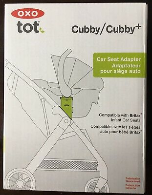 OXO Tot Cubby & Cubby+ Stroller Car Seat Adapter for Britax Infant Seats New