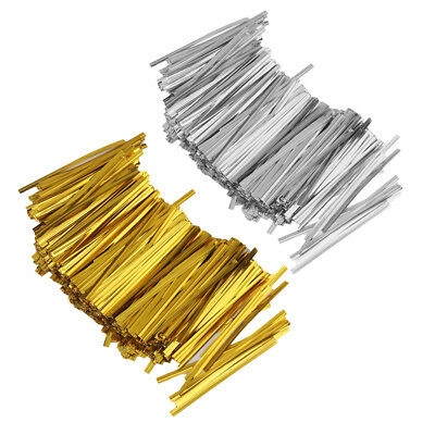 1600PCS Metallic Twist Ties for DIY Candy Cello Bags Biscuit Cookie Decor