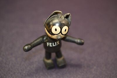 Vintage Felix The Cat 4 INCH  Wooden Jointed Toy 1920's