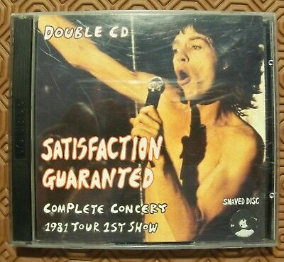 "Rolling Stones ""Satisfaction Guaranted"" Double Cd Live Philadelphia 1981 Jfk"