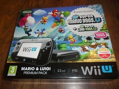 Nintendo Wii U Mario & Luigi Box , Manuals , Bags & Trays Only - No Console!