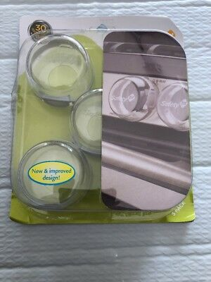 Safety 1st Clear View Stove Knob Covers, 5 Count NIB