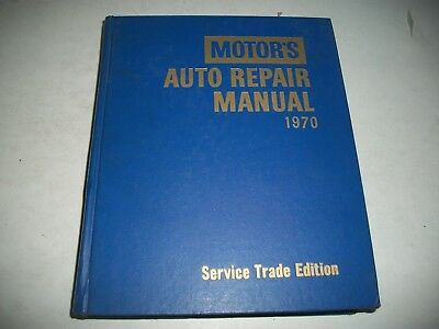 1964-1970 Motor's Auto Repair Manual Very Clean Ford Gm Chrysler Vw Ihc Scout