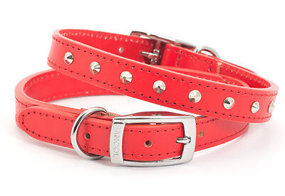 Ancol Heritage Dog / Puppy. Studded / Plain Handsewn Quality Leather Collar