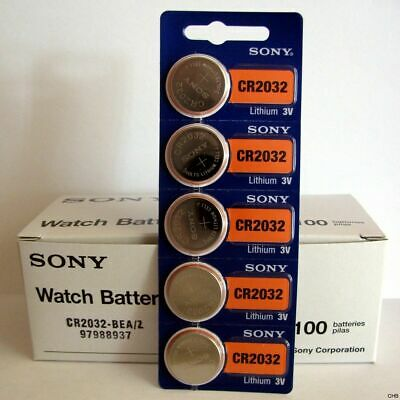 5 x SONY CR2016 Lithium Battery 3V Pack of 5 Pcs Coin Cell Expire 2027 FREE SHIP