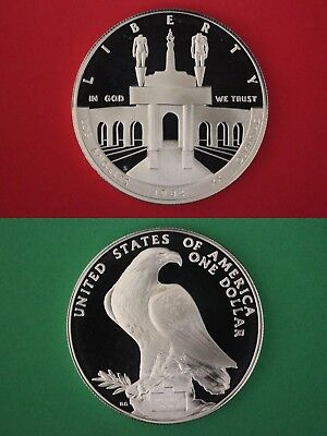 1984 S Proof Olympics Commemorative Silver Dollar Deep Cameo Flat Rate Shipping