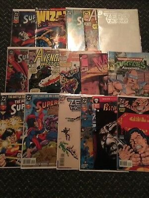 Huge Comic Book Lot 15 Marvel Dc Indy Superman Batman X-Men No Duplicates