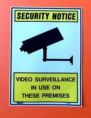 "CCTV sticker ""Security Notice    Video Surveillance in use on these Premises"""