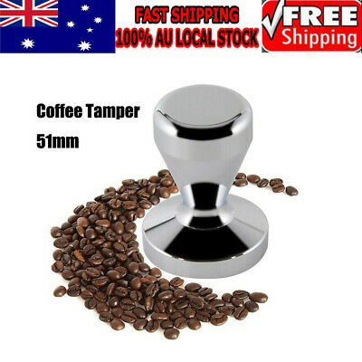 Coffee Tamper 51mm Stainless Steel Polished Tampa Tamp Espresso Barista AU Stock