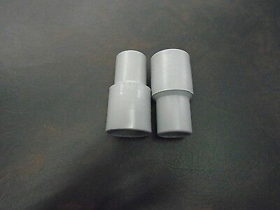 "Swimming Pool Vacuum Hose Replacement Cuff 1 1/4"" Set Of 2 New Threaded Gray"