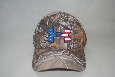 3f237fd3f29 New Under Armour Men s Camo Realtree AP-Xtra Big Flag Cap Hat 2.0  1282392