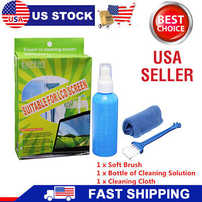 Screen Cleaning Kit for LCD/LED/Plasma TV/ PC Monitor/Laptop/Tablet Cleaner New