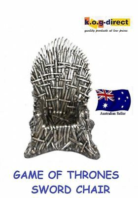 Game Of Thrones Chair Bronzed Thousand Swords Iron Throne Chair 22Cm New