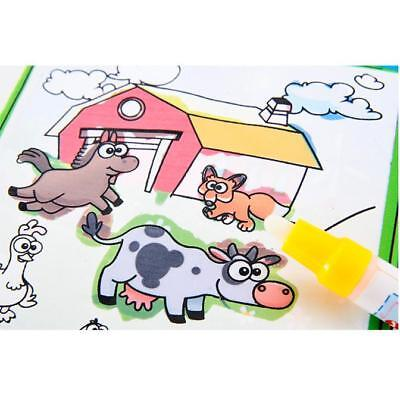 Magic Learning Water Drawing Book Colors Book Doodle Magic Pen Animals Painting