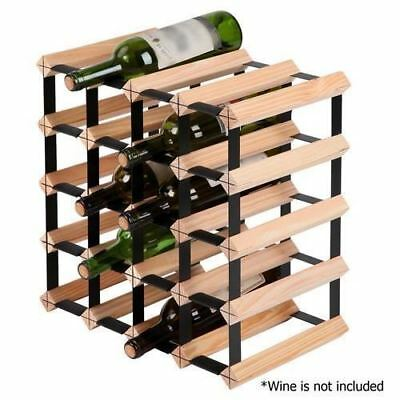 20 Bottle Timber Wine Rack Wooden Storage Display Cellar Organiser Home Stand