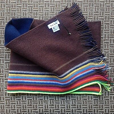 Paul Smith Pure New Wool Reversible Scarf Made In Germany