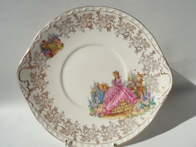Vintage Falcon Ware Weatherby Hanley England Crinoline Lady Cake Serving Plate