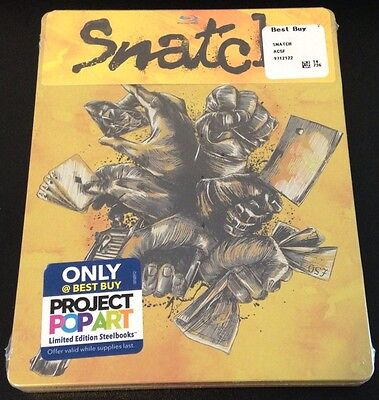 SNATCH Blu-Ray SteelBook Best Buy Exclusive Ltd Ed Region Free. New OOP & Rare!