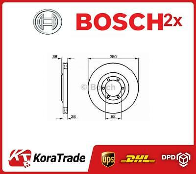 2x 0986478437 BOSCH OE QUALITY BRAKE DISC SET