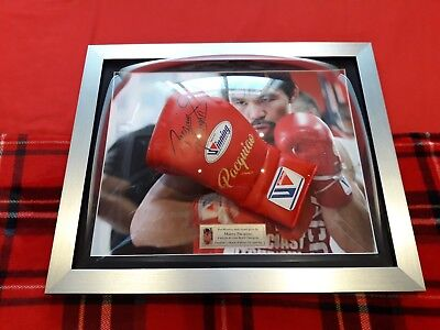 Hand Signed Red Replica Winning Glove by Manny Pacquiao