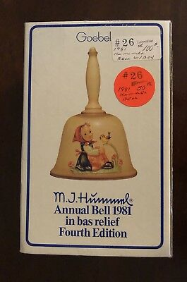 M J Hummel Annual Bell 1981 Fourth Edition In Original Box Goebel Germany