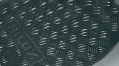 Toyota Hilux Front Rubber Floor Mats 02/05 To 07/2011 Pzq2089031