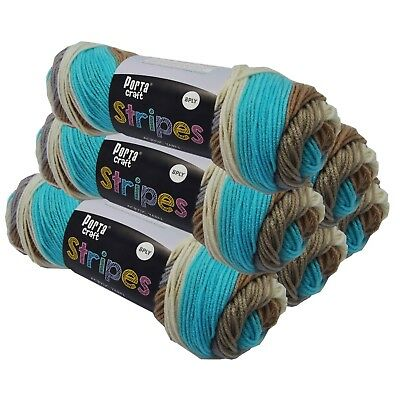 Stripes Acrylic Yarn 100g 150m 8ply Sandbar