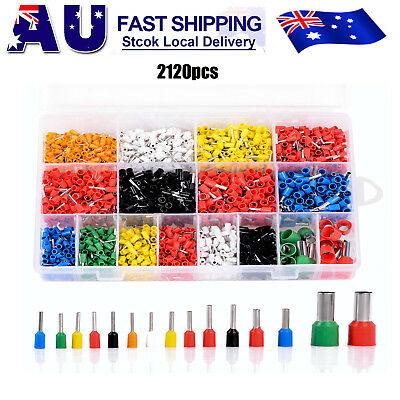 2120pcs Electrical Wire Connector Assorted Insulated Crimp Terminals Set Kit