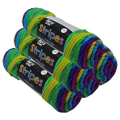Stripes Acrylic Yarn 100g 150m 8ply Parrot