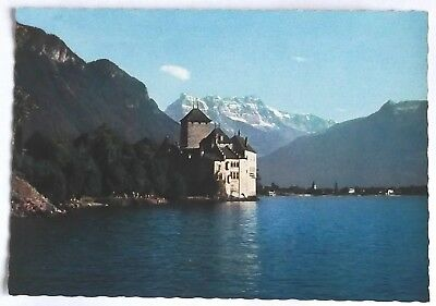 Lac LEMAN : Le chateau de Chillon et les dents de Midi