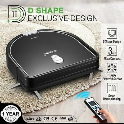 NEW 3-Stage Cleaning System Robot Vacuum Cleaner 1.2Kpa Self-Charged Sweeper