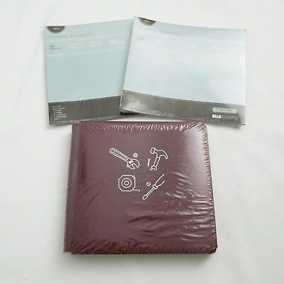"""Creative Memories 8x8 """"Tools"""" Album with Pages and Protectors BNIP"""