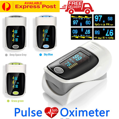 Portable Digital Fingertip Pulse Oximeter Blood Oxygen Monitor Heart Rate Tester