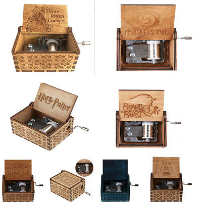 Pop Engraved Wooden Music Box Collection Toy Gift - Harry Potter/Star Wars/Moana