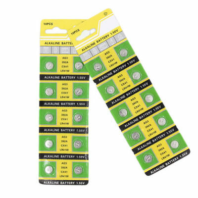 10Pcs/Lot AG3 LR41 392A LR736 1.55V Button Coin Cell Battery Batteria For Watch