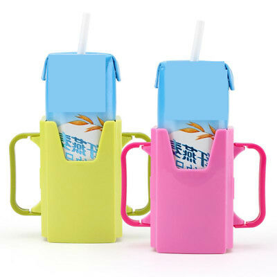 Adjustable Baby Care Toddler Milk Box Drinking Bottle Cup Holder Mug Silicone