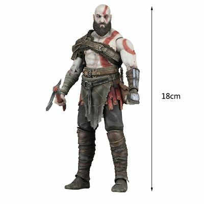 "HOT God of War (2018) 7"" Scale Action Figure Kratos Collectibles Toys Gifts"