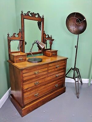 An Antique Edwardian Solid Satinwood Dressing Chest Table ~Delivery Available~