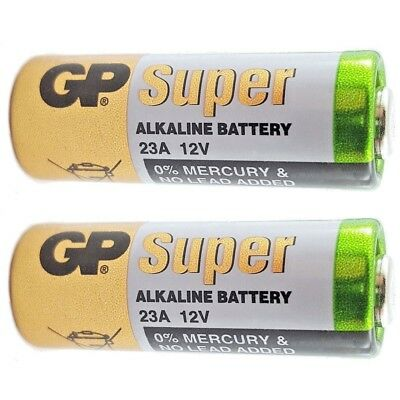 2 x GP A23 12V Alkanline Batteries MN21 23A LRV08 K23A E23 Door Bell Chime New