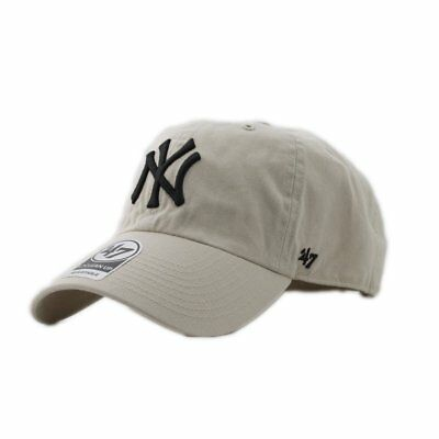 Gorra 47 Brand Mlb New York Yankees Clean Up Curved V Relax Fit Beige Hombre