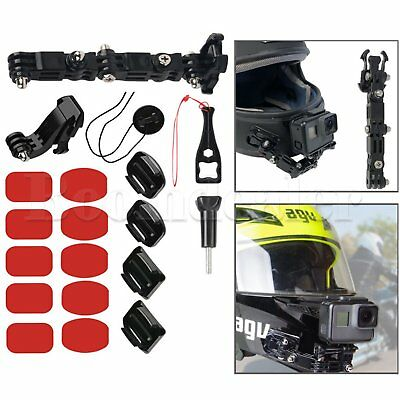 Adhesive Helmet Front Chin Mount Holder for Gopro Hero 6 5 4 3 Xiaomi Yi Cameras