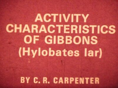 Activity characteristics of gibbons Ecology and maintenance 16mm short film 1974