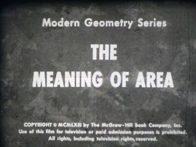 The Meaning Of Area 16mm short film 1963 B&W