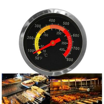 Stainless Steel Barbecue Thermometer Gauge 50-400℃ BBQ Temperature Hot Sale UK