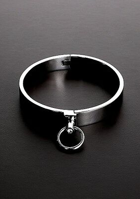 Classy Slave Collar with Gems - Size: 16 / TMS-0102-C